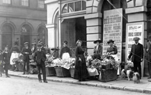 Old photo of the Pannier Market