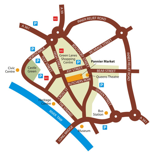 Map to Pannier Market