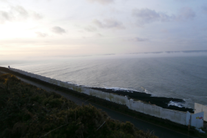 photo of the view of fence - Chesil Cliff House Planning enforcement notice appeal dismissed against land at Chesil Cliff House, Croyde