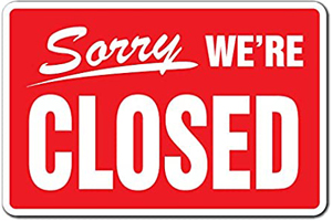 We are closed.jpg North Devon is NOT open for tourism business this Easter
