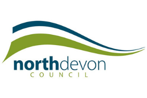 North Devon Council logo  Vaccination centre car parking