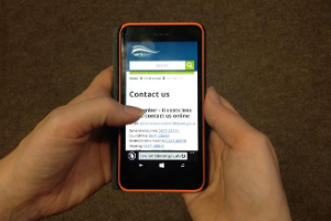 Website on mobile - for web.png North Devon Council's website retains top spot as best in the country