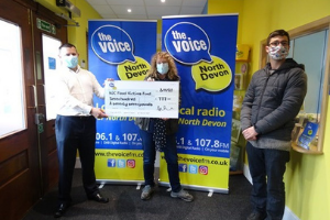 The Voice cheque presentation.png Council's flood victims fund receives donation from The Voice FM