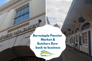 Barnstaple Pannier Market and Butchers Row Back to business after lockdown for Barnstaple Pannier Market and Butchers Row
