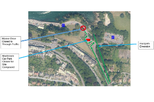 Larkstone road closure map.png Long term road closure in Ilfracombe planned to enable construction of Community Water Sports Centre